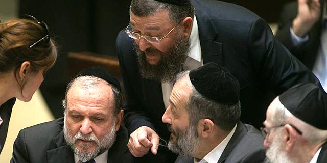אריה דרעי, יואב בן צור ואיציק כהן, צילום: אוהד צויגנברג