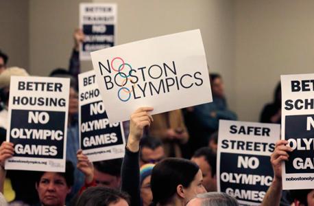 בוסטון הפגנה נגד אולימפיאדה 2024 , צילום: איי פי