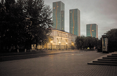 בניין באסטנה, קזחסטן, שבו לפי דיווחים שוכנים מרכזי ציתות דיגיטליים של ורינט ונייס