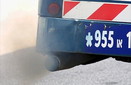 זיהום אוויר מאוטובוס