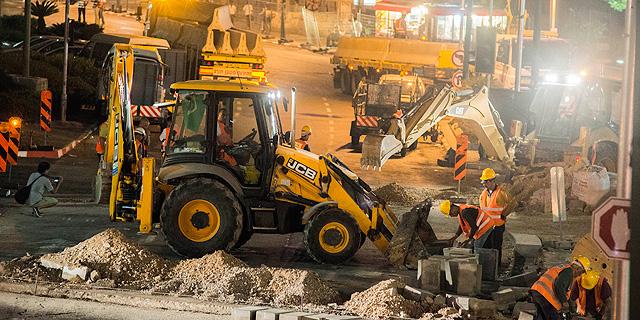 עבודות הרכבת הקלה בתל אביב, צילום: יובל חן
