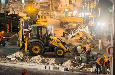 העבודות על הרכבת הקלה בתל אביב