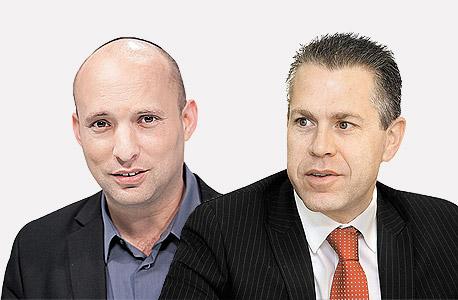 גלעד ארדן ו נפתלי בנט, צילום: אוראל כהן