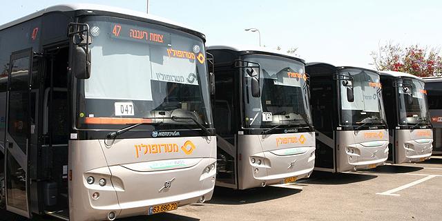 חברת מטרופולין תפעיל 450 אוטובוסים במרכז ובשרון