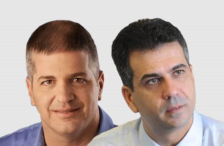 """מימין ח""""כ אלי כהן ו ח""""כ יואב קיש, צילום: אלעד זמיר"""