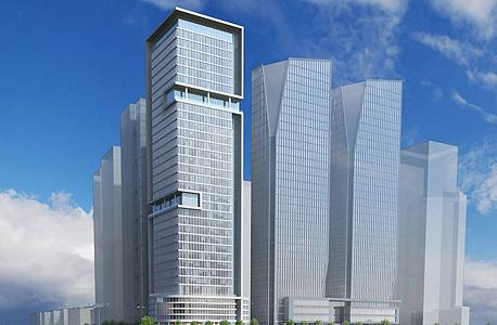 """הדמיית מגדל אקרו נדל""""ן. 31 קומות"""