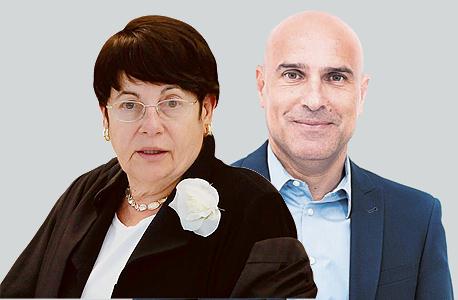מימין אפי נוה ראש לשכת עורכי הדין ו מרים נאור שופטת , צילום: עידן מילמן, עמית שאבי