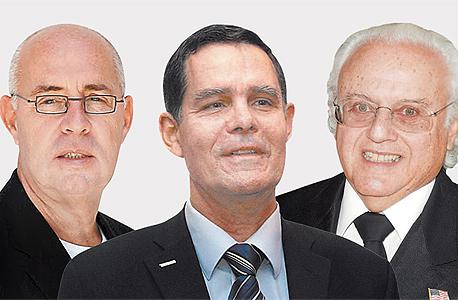 """המיליארד איירה רנרט (מימין), מנכ""""ל טבע לשעבר שלמה ינאי שייצג את פולוביץ' בפגישות ויו""""ר תעש לשעבר אבנר רז שייצג את ג'נרל דיינמיקס. רק אחד נשאר"""