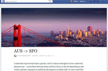 פייסבוק notes בלוג 2, צילום: פייסבוק