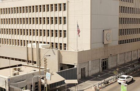 שגרירות ארצות הברית בתל אביב, צילום: עמית שעל