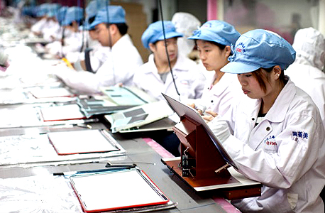 סין מפעל פוקסקון יצרנית טלפונים אייפון אפל