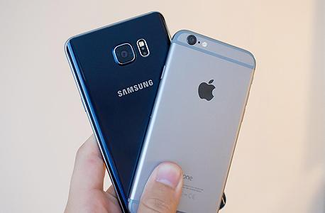 אפל סמסונג גלקסי נגד אייפון 6