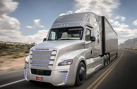 Daimler's driverless truck. Photo: Daimler