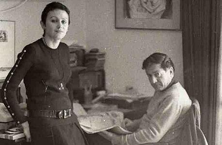 אלוני ובת זוגו השחקנית אדית אסטרוק