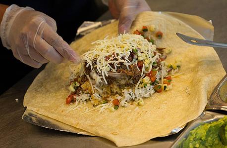 בוריטו של רשת מסעדות צ'יפוטלה מזון מקסיקני, צילום: בלומברג