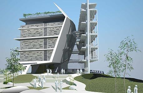 הדמיה של בניין בית הספר ללימודי הסביבה באוניברסיטת תל אביב