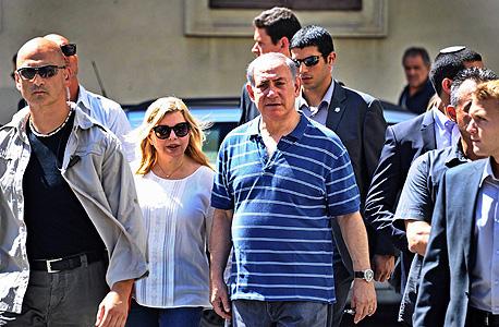 בנימין נתניהו ו שרה נתניהו ב פירנצה, צילום: אי פי איי