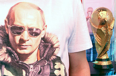 """ולדימיר פוטין מונדיאל 2018 גביע העולם פיפ""""א , צילום: איי אף פי"""