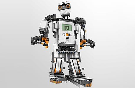 רובוט שנבנה בערכה החינוכית של לגו. מסייע בלימודי רובוטיקה בישראל