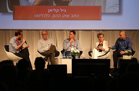 מימין: קובי אמסלם, יפה ויגודסקי, איציק צאיג, איקה אברבנאל ומנחה הפאנל, גיל קליאן