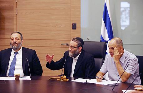 משה גפני ו אריה דרעי ועדת הכספים, צילום: אוהד צויגנברג