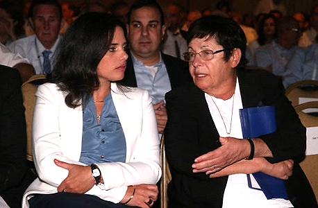 """ועידת המשפט של לשכת עוה""""ד נשיאת העליון מרים נאור ו שרת המשפטים איילת שקד, צילום: מוטי קמחי"""