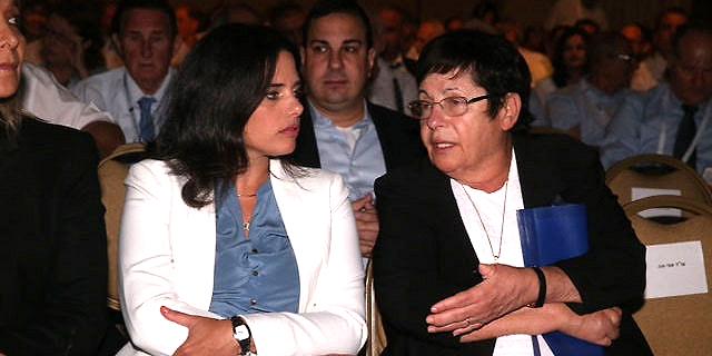 """עוה""""ד נשיאת העליון מרים נאור ושרת המשפטים איילת שקד (ארכיון), צילום: מוטי קמחי"""