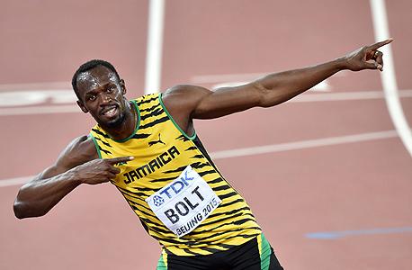 """יוסיין בולט. ג'מייקה צפויה לזכות ב־0.4 מדליות על כל מיליארד דולר מתוך התל""""ג, זאת לעומת יחס של 0.02 של בריטניה ורוסיה ו־0.0005 של ארה""""ב וסין"""