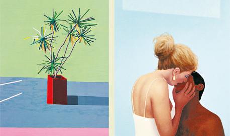 מימין: ציורים של רידלי הווארד וגיא ינאי. התפתחות טבעית זה של זה