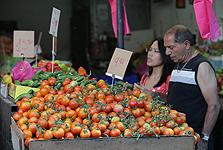 דוכן עגבניות בשוק הכרמל (ארכיון), צילום: אוראל כהן
