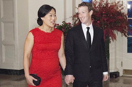 מרק צוקרברג פייסבוק אשתו פריסליה צ'אן הבית הלבן ארוחה נשיא סין, צילום: Chris Kleponis-Pool