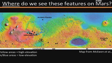 """מתוך הדמייה של נאס""""א שמדגימה הימצאות מים על המאדים"""