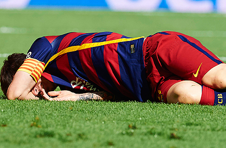 ליאו מסי פצוע שחקן ברצלונה, צילום: אם סי טי
