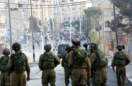 """חיילי צה""""ל ב בית לחם מהומות איתיפאדה 2015, צילום: אם סי טי"""