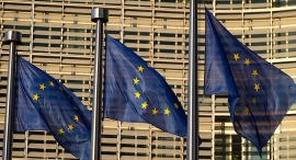 EU flags (illustration). Photo: Bloomberg