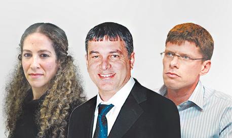 מימין הרן לבאות שלמה פילבר ו שירה גרינברג, צילום: אוראל כהן