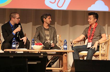 עומר כביר נמרוד צוק קארל פיי מייסד OnePlus מובייל 2016, צילום: ענר גרין