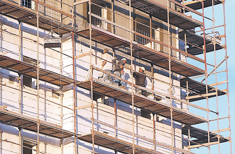 פועלי בניין, צילום: שאול גולן
