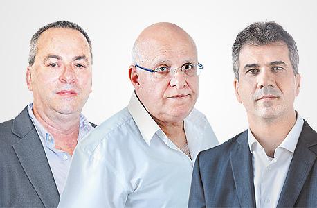 מימין אלי כהן ו אביגדור יצחקי ו רוני בריק, צילום: דוברות המפלגה כולנו, עמית שעל