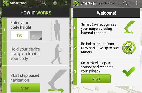 smartnavi סמארטנווי אפליקציה ניווט הולך רגל 2, צילום: גוגל פליי