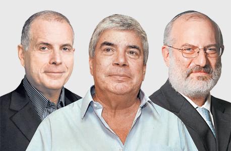 מימין אדוארדו אלשטיין עמי אראל ו רפי ביסקר, צילומים: אוראל כהן, יונתן בלום