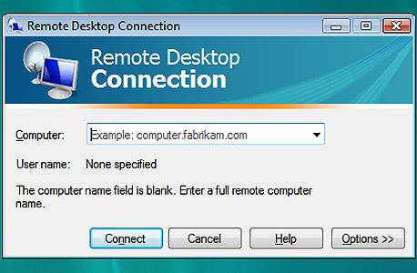 Remote Desktop Connection בוויסטה