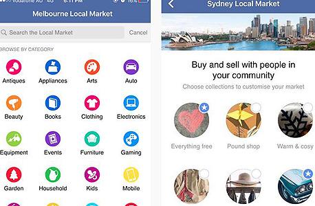 פייסבוק Local Markets לוח 2, צילום: techcrunch.com