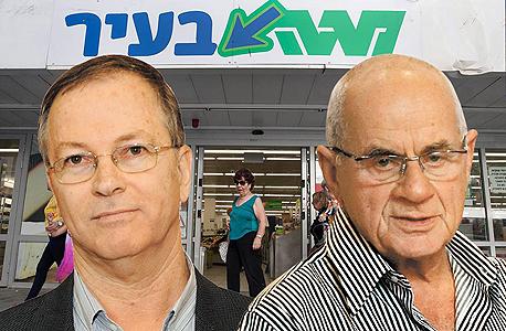 מימין: בעלי השליטה באלון רבוע כחול שרגא בירן ודודי ויסמן, צילום: יובל חן, עמית שעל