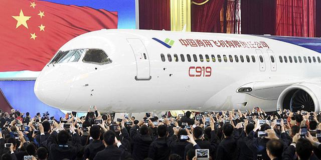סין חשפה מטוס נוסעים גדול ראשון מתוצרתה שיתחרה בבואינג ובאיירבוס