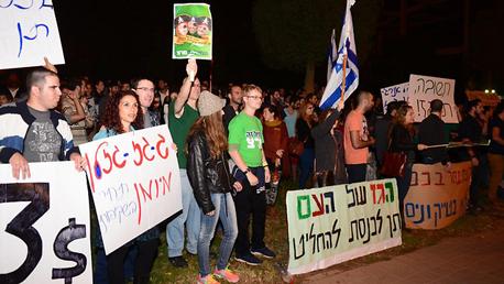 הפגנה נגד מתווה הגז 3, צילום: הרצל יוסף