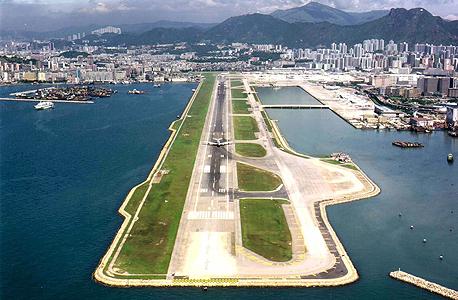 הונג קונג - שדה תעופה . הרחקת שדה התעופה מאפשרת להתמודד עם מצוקות של רעש, צפיפות ולוגיסטיקה