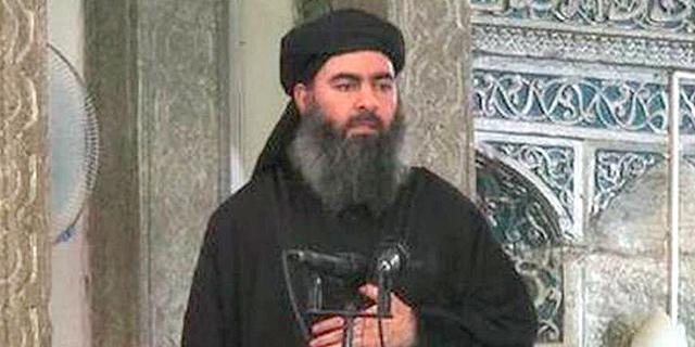 אבו בכר אל בגדדי, ראש ארגון דאעש שחוסל, צילום: Al-FURQAAN MEDIA
