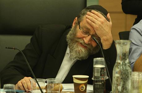 משה גפני ועדת הכספים תקציב המדינה 2016, צילום: עמית שאבי