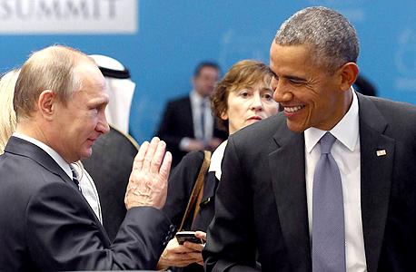 ברק אובמה ו ולדימיר פוטין, צילום: איי אף פי